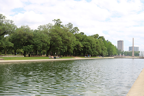 <div class='meta'><div class='origin-logo' data-origin='KTRK'></div><span class='caption-text' data-credit='Danny Clemens'>A reflecting pool sits adjacent to the Sam Houston statue.</span></div>