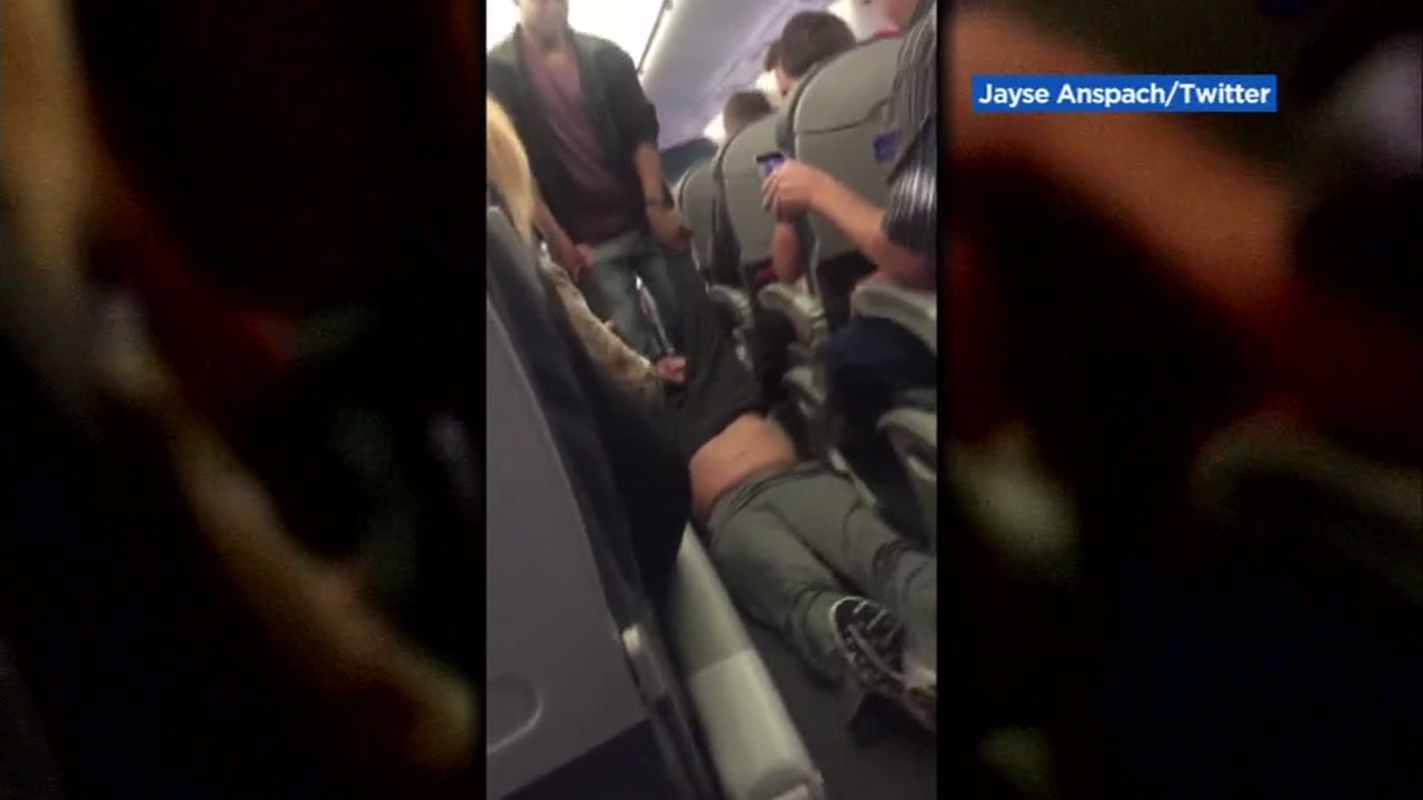 Dr. David Dao is seen being dragged off a United Airlines flight on Monday, April 10, 2017.