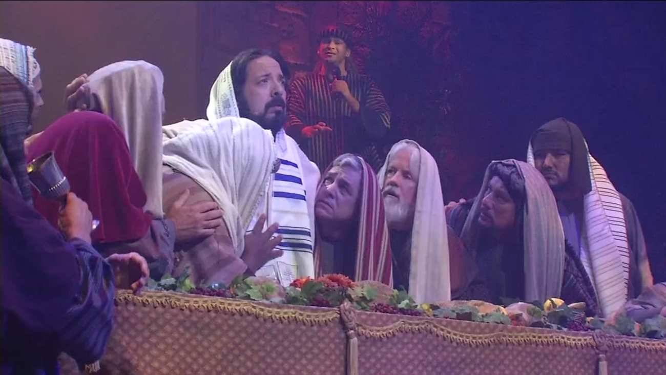Hundreds packed a church to watch a play depicting Jesus Christ's final days in San Jose, Calif. on Friday, April 14, 2017.