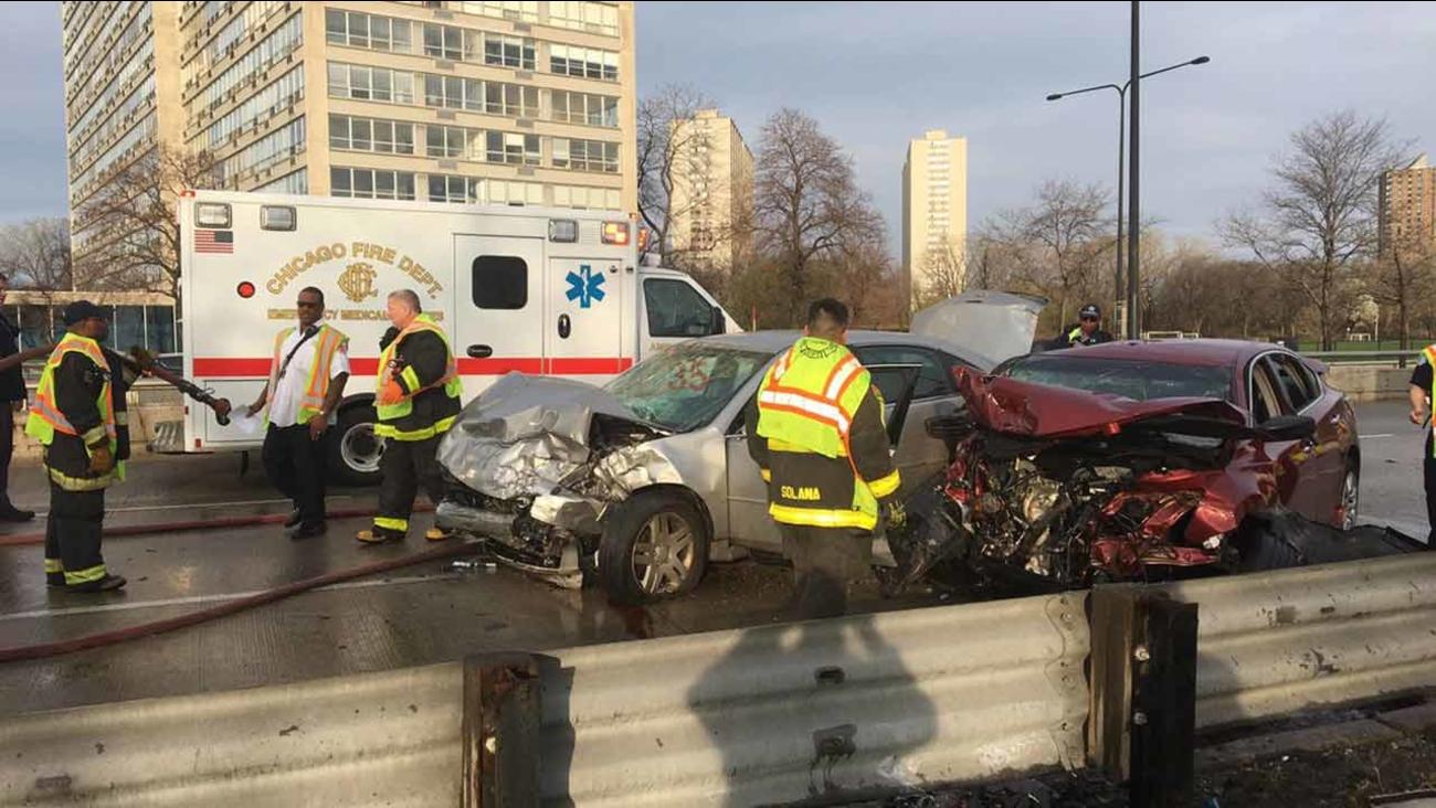 Lake Shore Drive crash