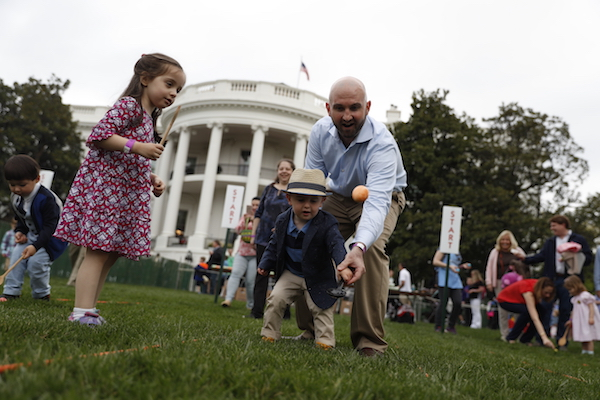 <div class='meta'><div class='origin-logo' data-origin='Creative Content'></div><span class='caption-text' data-credit='AP Photo/Carolyn Kaster'>Participants in the annual White House Easter Egg Roll on the South Lawn of the White House in Washington, Monday, April, 17, 2017.</span></div>