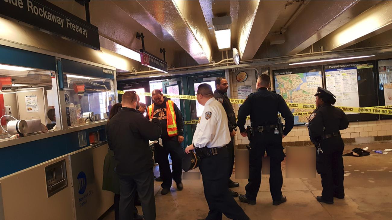 Man Looking At Subway Map.Man Slashed On Subway Station Platform In Far Rockaway Queens