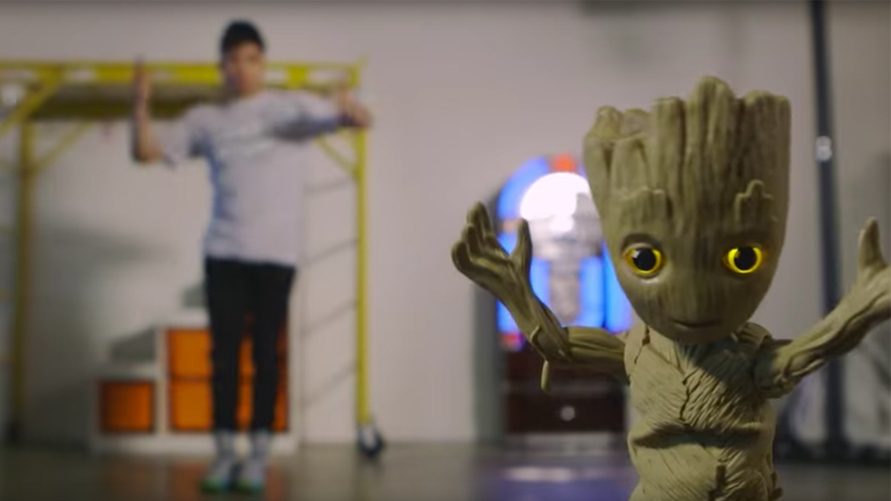 Image of groot toy from guardians of the galaxy