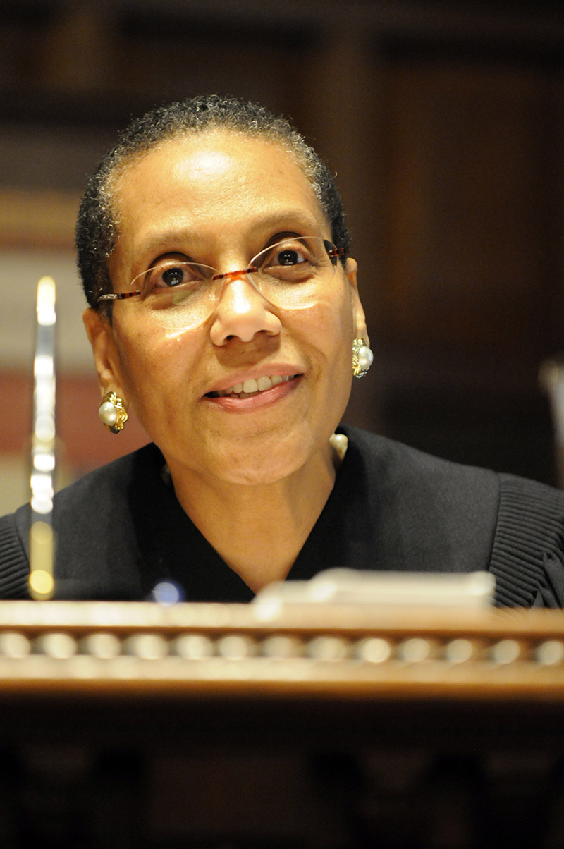 <div class='meta'><div class='origin-logo' data-origin='AP'></div><span class='caption-text' data-credit='AP Photo/Hans Pennink'>Court of Appeals judge Sheila Abdus-Salaam during her swearing-in ceremony at the New York Court of Appeals in Albany, N.Y., Thursday, June 20, 2013.</span></div>