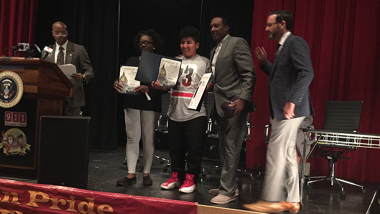 San Francisco Middle School Boy Named Adrian Perez Honored For Saving Uncles Life After Calling 911
