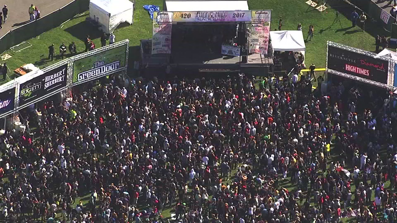 Thousands gather for 4/20 at San Francisco's Golden Gate