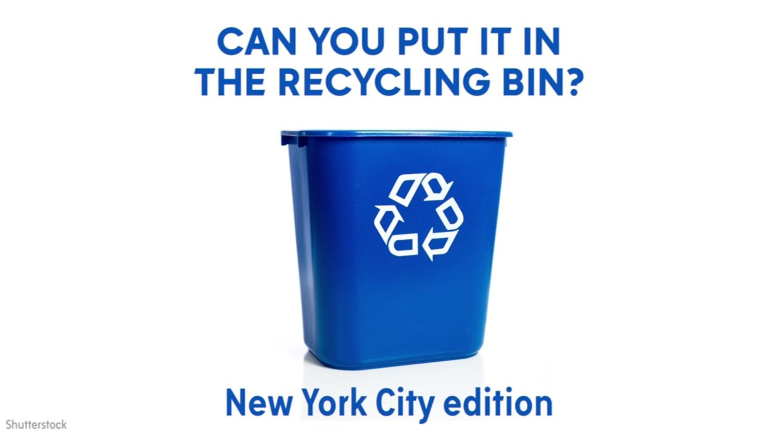 New York City recycling bin quiz