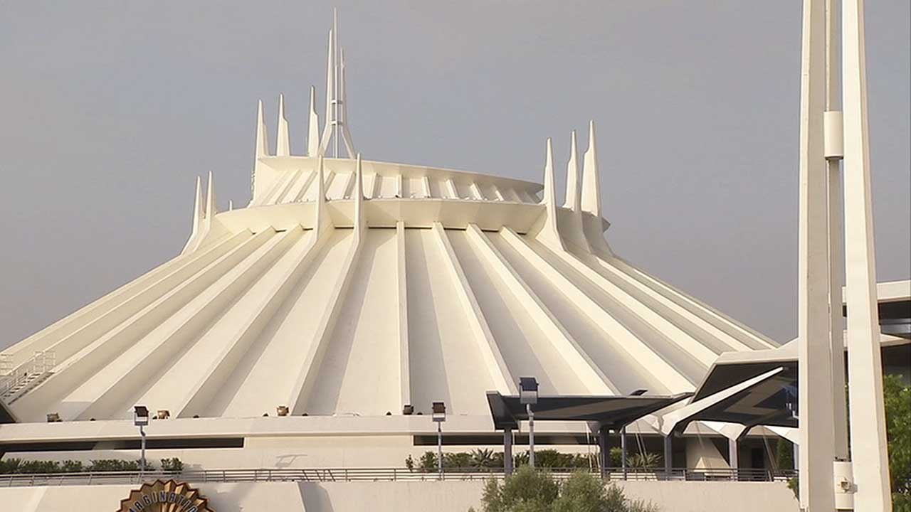 Space Mountain is seen at Disneyland in this undated file photo.