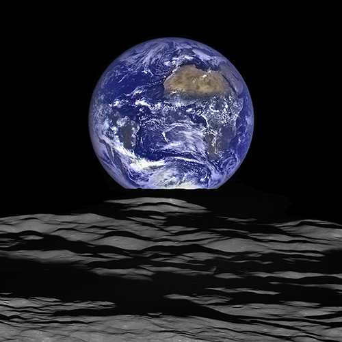 "<div class=""meta image-caption""><div class=""origin-logo origin-image none""><span>none</span></div><span class=""caption-text"">NASA's Lunar Reconnaissance Orbiter's view of Earth from the spacecraft's vantage point in orbit around the moon. (NASA)</span></div>"