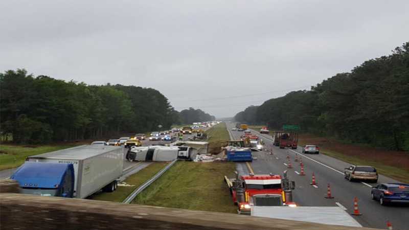 I-95 shuts down due to accident
