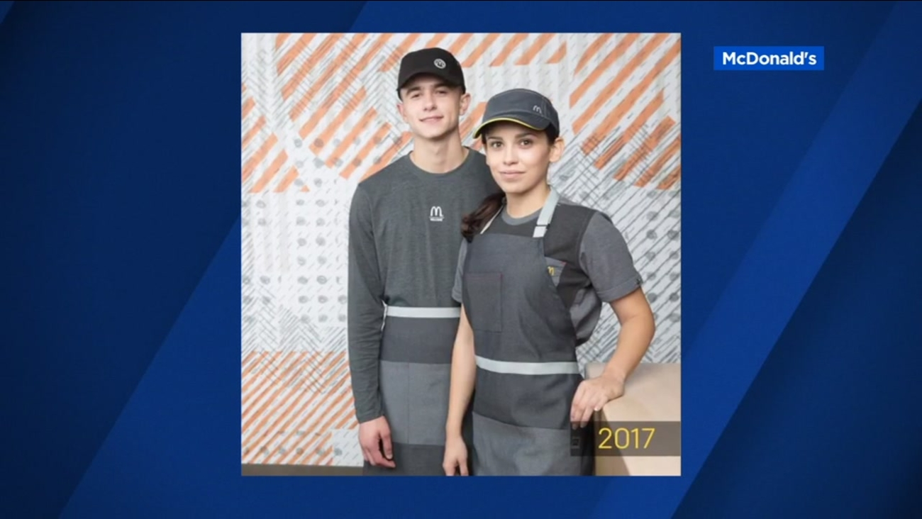 FILE -- McDonald's has unveiled new uniforms