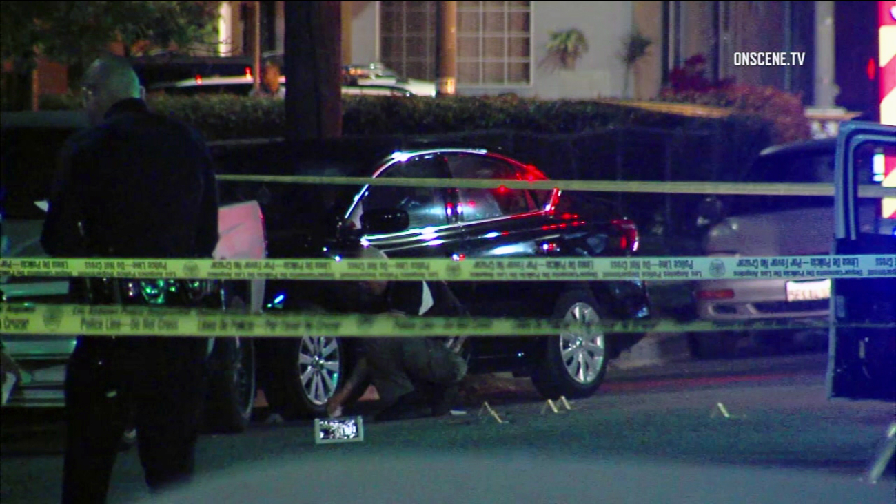 A man and woman were shot to death in the 400 block of E. 116th Street in South Los Angeles on Sunday, April 23, 2017.