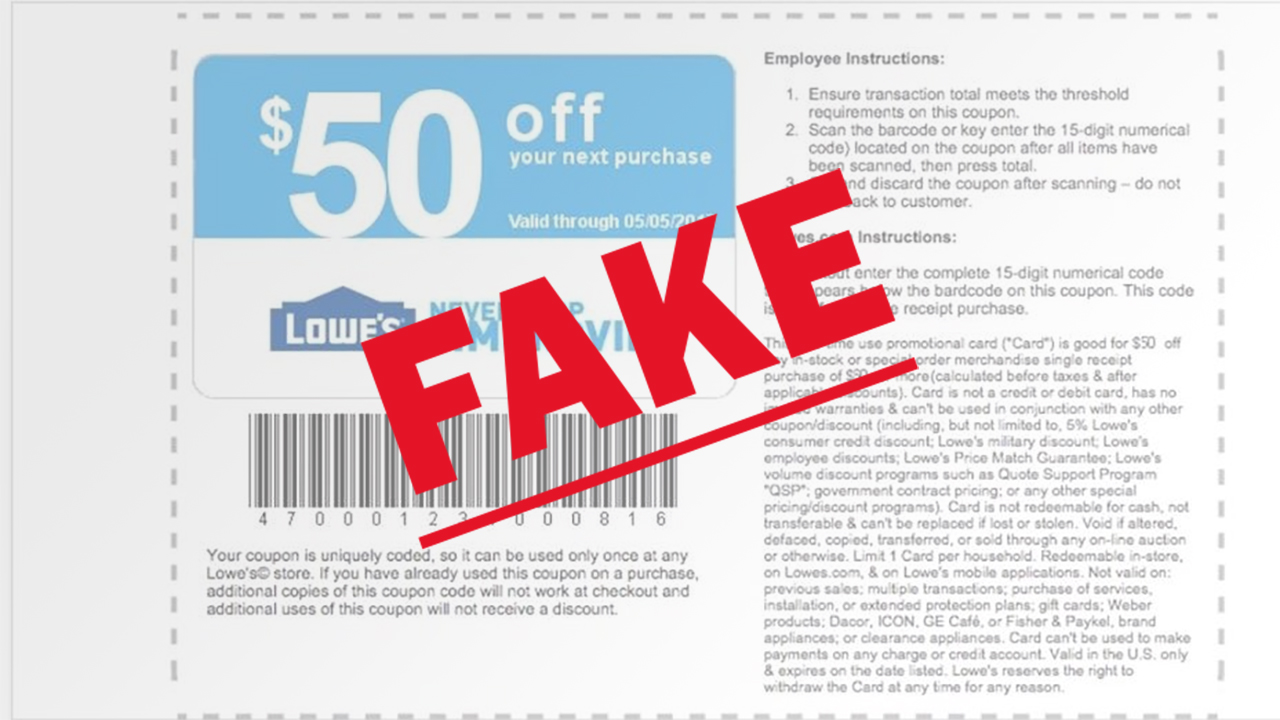 Lowes says this is not a real coupon.