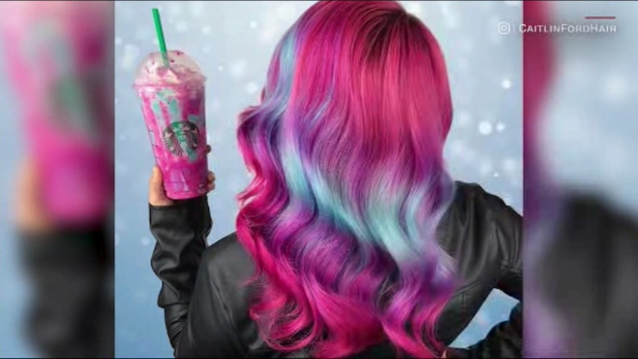 Starbucks has inspired this hairstyle, based on their viral unicorn frappuccino.