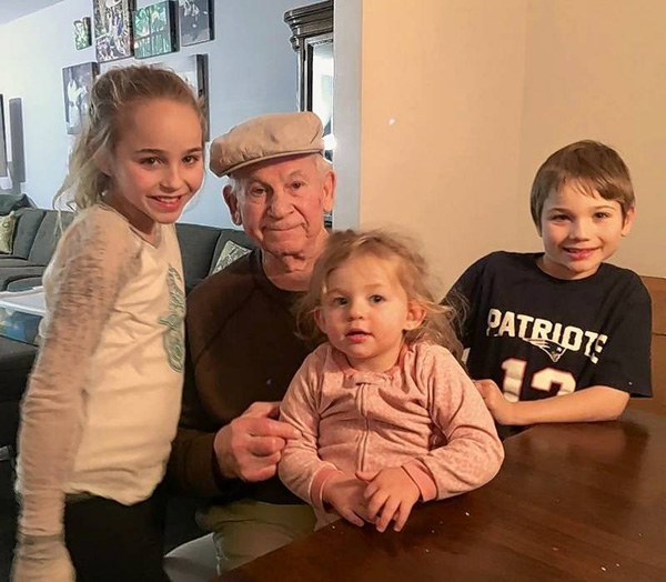 "<div class=""meta image-caption""><div class=""origin-logo origin-image none""><span>none</span></div><span class=""caption-text"">Isaac Vatkin and his grandchildren. (Courtesy of Howard Handler/Daily Herald)</span></div>"