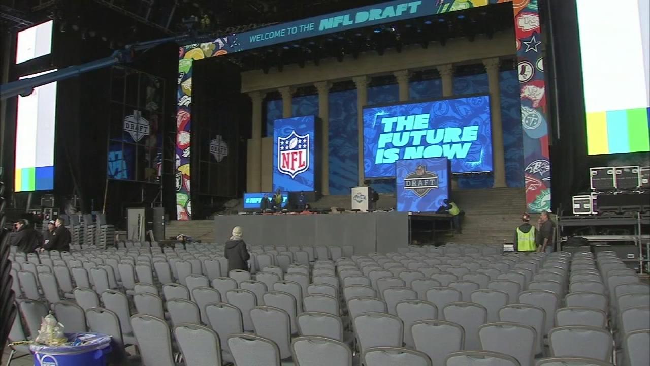Get a sneak peek inside the NFL Draft stage in Philadelphia  84bc8cde659