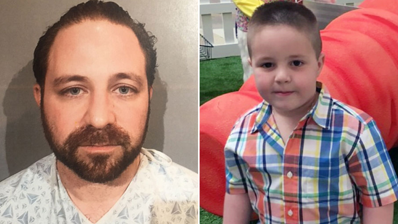 Aramazd Andressian Sr. (left) his son, 5-year-old Aramazd Andressian Jr.