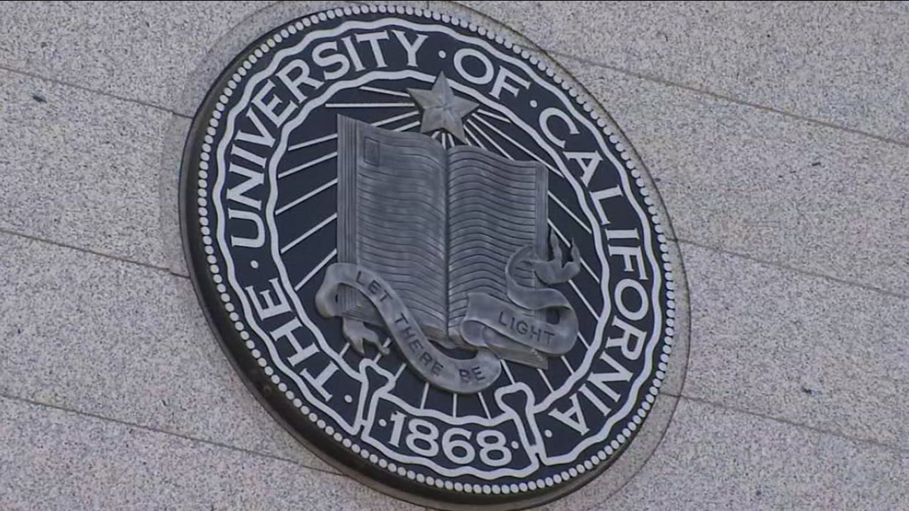 The seal of the University of California is seen in this undated image.