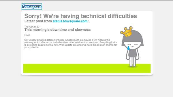 amazon outage, apology