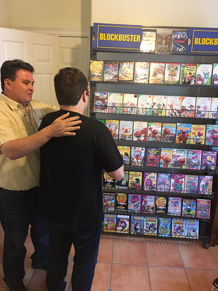 "<div class=""meta image-caption""><div class=""origin-logo origin-image none""><span>none</span></div><span class=""caption-text"">Javier Zuniga's parents decided to create a mini Blockbuster at home, and stocked it with his brother's favorite movies! (@Javiii_Zuniga/Twitter)</span></div>"