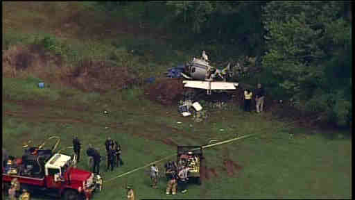 """<div class=""""meta image-caption""""><div class=""""origin-logo origin-image """"><span></span></div><span class=""""caption-text"""">A small plane crashed before landing at an airport in Somerset County, New Jersey on Wednesday.</span></div>"""