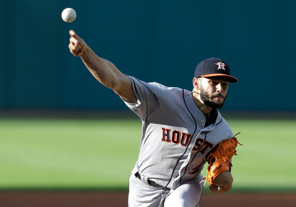 "<div class=""meta image-caption""><div class=""origin-logo origin-image none""><span>none</span></div><span class=""caption-text"">Houston Astros starting pitcher Lance McCullers Jr. delivers during the first inning of the team's baseball game against the Cleveland Indians, Wednesday, April 26, 2017. (AP Photo/Tony Dejak)</span></div>"