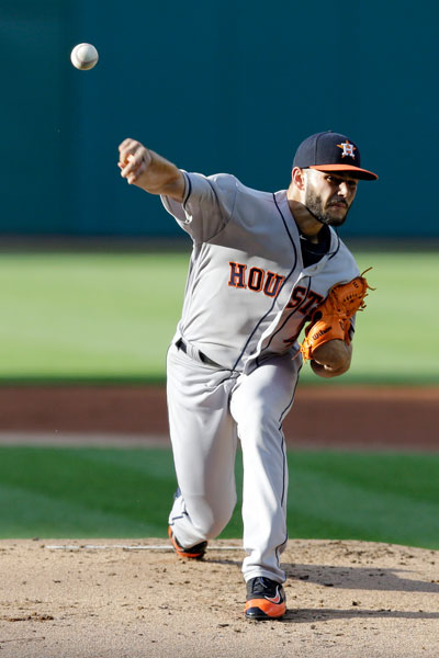 "<div class=""meta image-caption""><div class=""origin-logo origin-image none""><span>none</span></div><span class=""caption-text"">Houston Astros starting pitcher Lance McCullers Jr. delivers in the first inning of a baseball game against the Cleveland Indians, Wednesday, April 26, 2017, in Cleveland. (AP Photo/Tony Dejak)</span></div>"