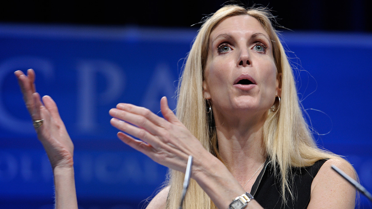 Ann Coulter speaks at the Conservative Political Action Conference (CPAC) in Washington, Saturday, Feb. 12, 2011.