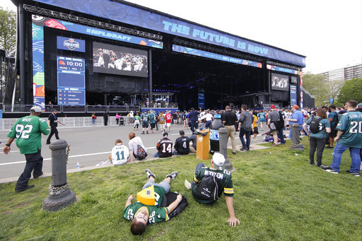 <div class='meta'><div class='origin-logo' data-origin='AP'></div><span class='caption-text' data-credit='AP'>Fans relax before the first round of the 2017 NFL football draft, Thursday, April 27, 2017, in Philadelphia. (AP Photo/Matt Rourke)</span></div>