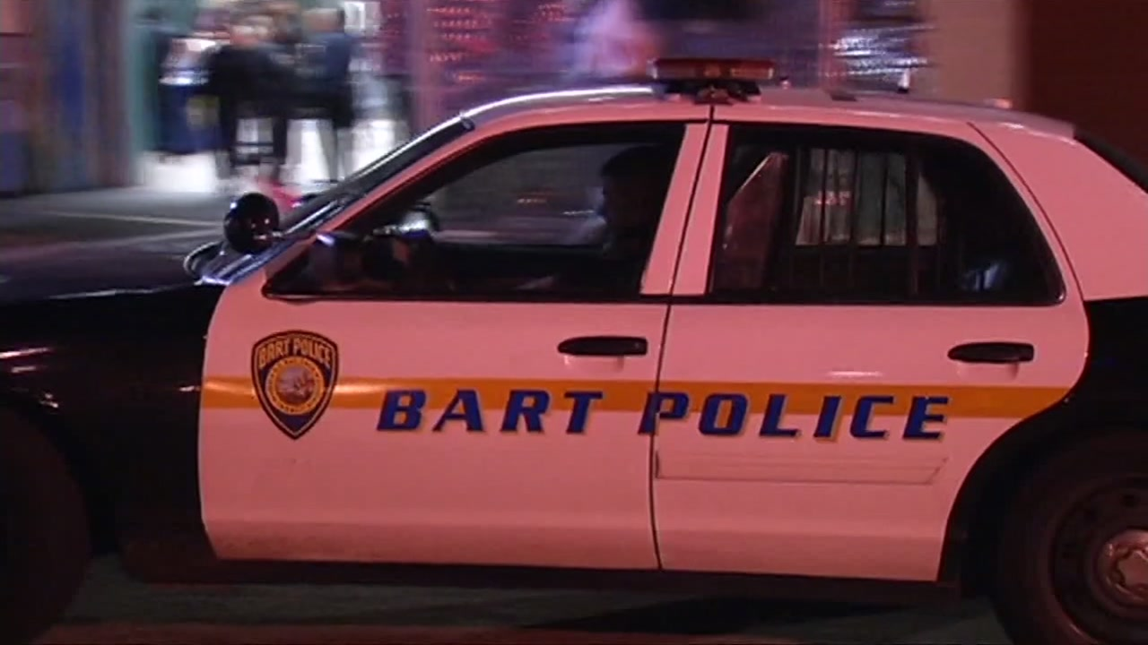 A BART police patrol car is seen in this undated image.