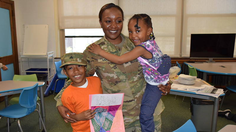 Military mom reunited with kids