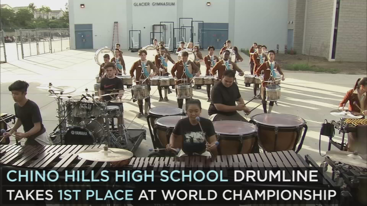 Chino Hills Hs Drumline Takes First Place At World Championship