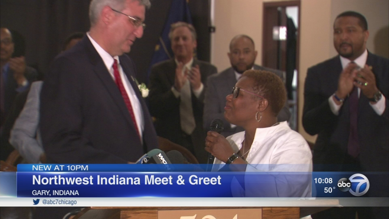 Mother Wade Gary Mayor Welcome Indiana Governor Abc7chicago