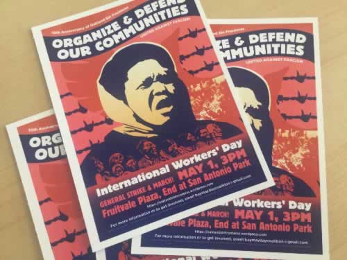<div class='meta'><div class='origin-logo' data-origin='none'></div><span class='caption-text' data-credit='KGO-TV'>This flyer is for a May Day March in Oakland, Calif. on Monday, May 1, 2017.</span></div>