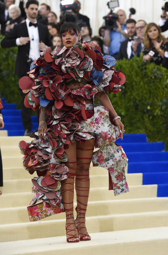 "<div class=""meta image-caption""><div class=""origin-logo origin-image ap""><span>AP</span></div><span class=""caption-text"">Rihanna attends The Metropolitan Museum of Art's Costume Institute benefit gala celebrating the opening of the Rei Kawakubo/Comme des Garçons: Art of the In-Between exhibit. (Evan Agostini/Invision/AP)</span></div>"
