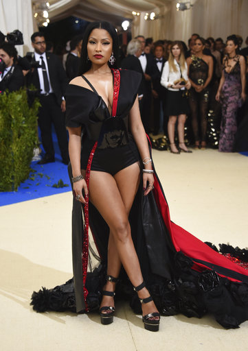 "<div class=""meta image-caption""><div class=""origin-logo origin-image ap""><span>AP</span></div><span class=""caption-text"">Nicki Minaj attends The Metropolitan Museum of Art's Costume Institute benefit gala celebrating the opening of the Rei Kawakubo/Comme des Garçons: Art of the In-Between exhibit. (Evan Agostini/Invision/AP)</span></div>"