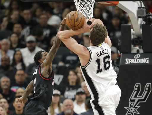 "<div class=""meta image-caption""><div class=""origin-logo origin-image ap""><span>AP</span></div><span class=""caption-text"">San Antonio Spurs center Pau Gasol (16) is blocked by Houston Rockets guard Lou Williams (12), Monday, May 1, 2017, in San Antonio. (AP Photo/Eric Gay) (AP)</span></div>"
