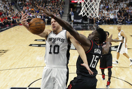 "<div class=""meta image-caption""><div class=""origin-logo origin-image ap""><span>AP</span></div><span class=""caption-text"">San Antonio Spurs forward David Lee (10) is blocked by Houston Rockets center Clint Capela (15) as he tries to score during Game 1, Monday, May 1, 2017. (AP Photo/Eric Gay) (AP)</span></div>"