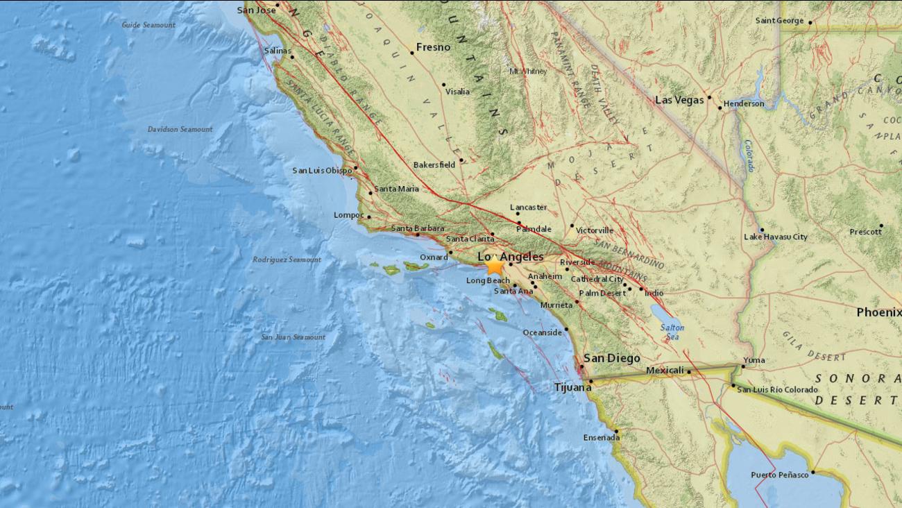 A 3.0 magnitude earthquake struck Santa Monica Monday night.