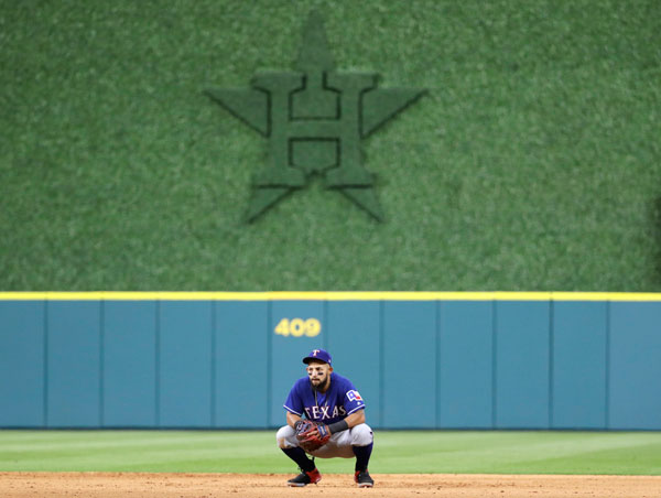"<div class=""meta image-caption""><div class=""origin-logo origin-image none""><span>none</span></div><span class=""caption-text"">Texas Rangers second baseman Rougned Odor waits between batters during the seventh inning of a baseball game against the Houston Astros Monday, May 1, 2017, in Houston. (AP Photo/David J. Phillip)</span></div>"