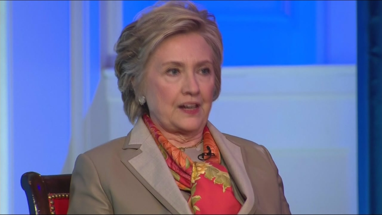 Hillary Clinton speaks during an interview with CNN's Christiane Amanpour on Tuesday, May 2, 2017.
