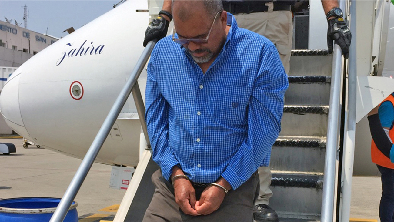 Francisco Escobar-Orellana  arrives in Honduras on Monday after being deported. He is wanted in Honduras in connection with two murders.