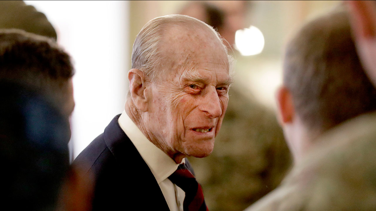 Britain's Prince Philip, pictured at a military barracks in Aldershot, England on March 30, 2017.