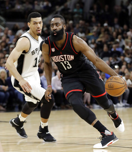 "<div class=""meta image-caption""><div class=""origin-logo origin-image ap""><span>AP</span></div><span class=""caption-text"">Houston Rockets guard James Harden (13) drives to the basket past San Antonio Spurs' Danny Green (14) during the first half of Game 2. (AP Photo/Eric Gay) (AP)</span></div>"