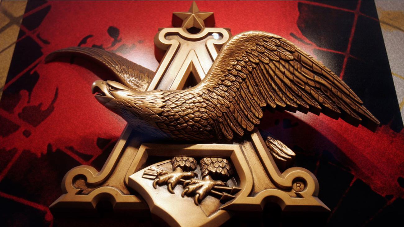 File photo of an Anheuser Busch logo