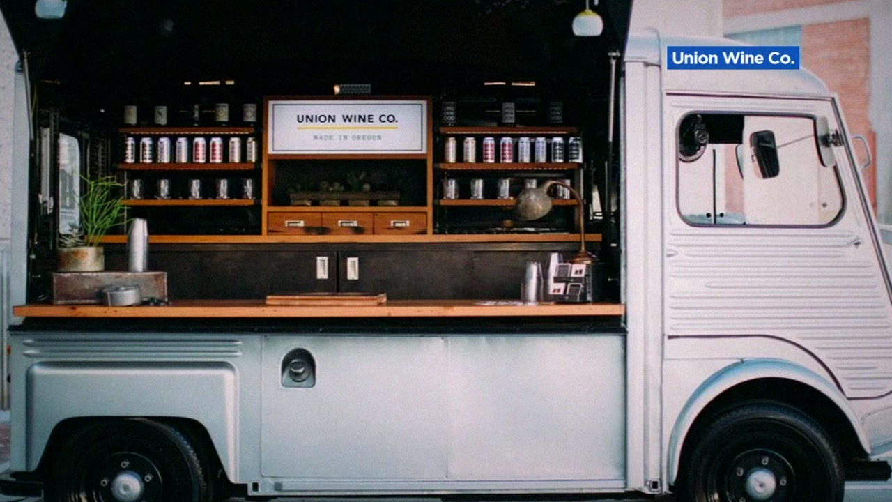 The Union Wine Company's mobile wine bar is pictured on their website.