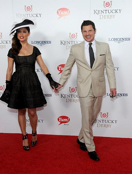 "<div class=""meta image-caption""><div class=""origin-logo origin-image kabc""><span>kabc</span></div><span class=""caption-text"">Vanessa Minnillo and Nick Lachey walk the Kentucky Derby Red Carpet. (Diane Bondareff/AP)</span></div>"