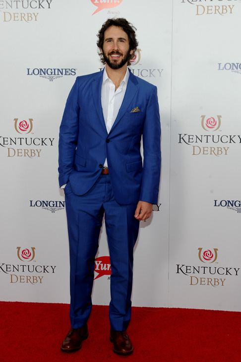 "<div class=""meta image-caption""><div class=""origin-logo origin-image kabc""><span>kabc</span></div><span class=""caption-text"">Josh Groban walks the Kentucky Derby Red Carpet. (Joe Imel/AP)</span></div>"