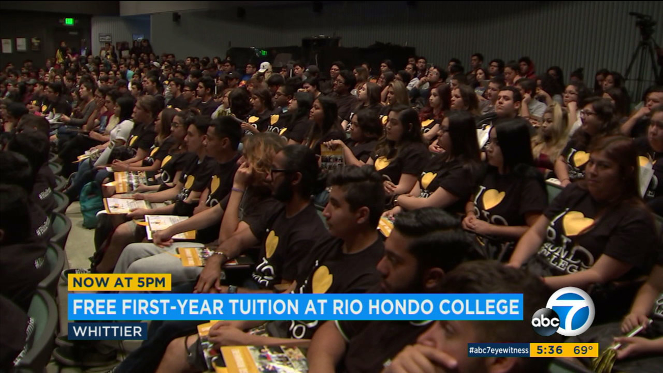 About 200 students learned about a Rio Hondo College program that offers free tuition for some local students.