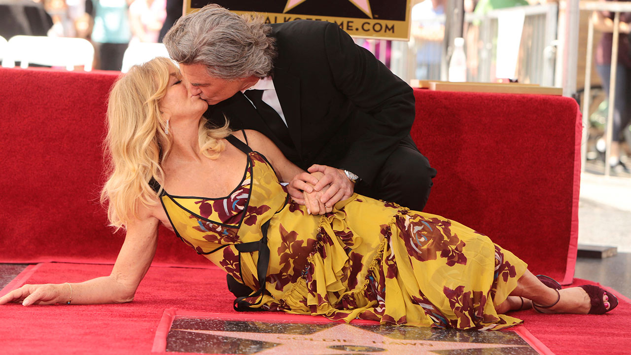 Goldie Hawn and Kurt Russell seen at ceremony honoring them each with a star on the Hollywood Walk of Fame on Thursday, May 4, 2017, in Los Angeles.